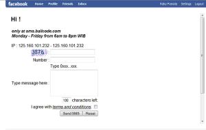 SMS Gratis Balicode On Facebook